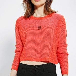 Urban Outfitters Red Stitch Cropped Sweater M